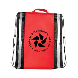 Customized Reflective Drawstring Backpack