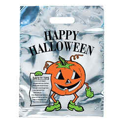 Customized Silver Reflective Pumpkin Bag