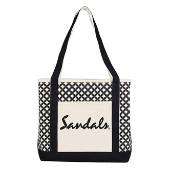 Customized Curved Diamond Canvas Tote Bag