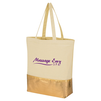 Customized Metallic Accent Cotton Tote Bag