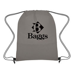 Customized Non-Woven Wave Design Drawstring Bag