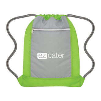 Customized Flip Side Drawstring Sports Bag