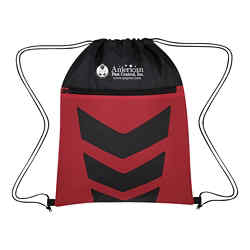 Customized Two-Tone Arrow Drawstring Bag