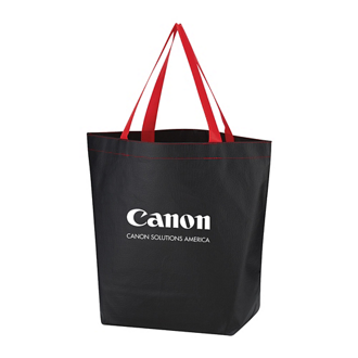Customized Non-Woven Leather-Look Tote Bag