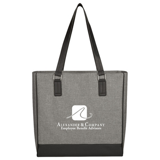 Customized Classy Heathered Tote Bag