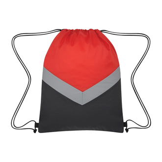 Customized Reflective Stripe Drawstring Bag