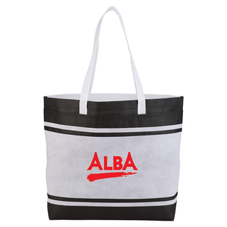 Customized Non-Woven Striped Tote Bag