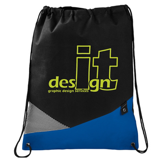 Customized Non-Woven Mesh Drawstring Sportspack