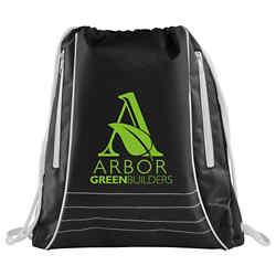 Customized Black Drawstring Bag