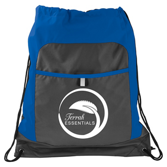 Customized Color Pop Drawstring Backpack with Pocket
