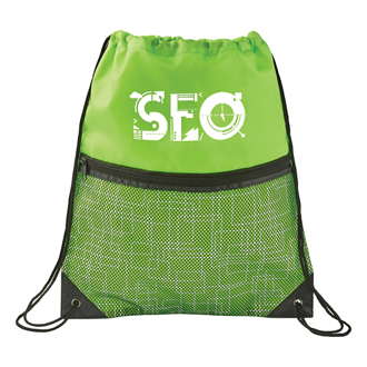 Customized Tech Print Nylon Drawstring Bag