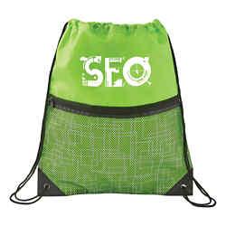 Customized Tech Print Mesh Drawstring Sportspack