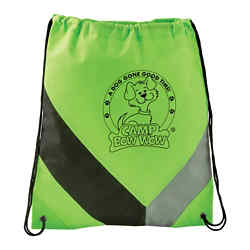 Customized Non-Woven Slant Drawstring Sportspack