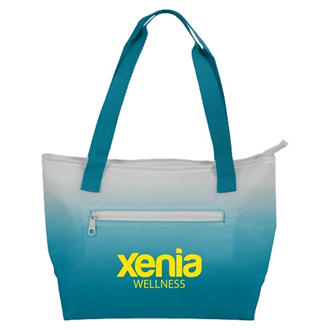Customized Dahlia Insulated Ombré Lunch Tote Bag