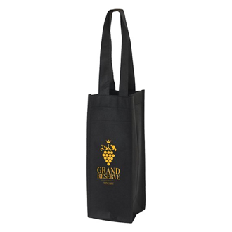 Customized Condor Wine Tote Bag with Front Pocket