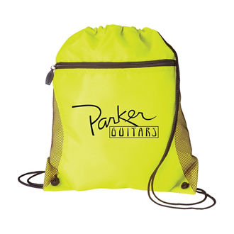 Customized Jaeden Mesh Front-Pocket Drawstring Backpack