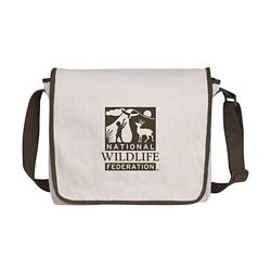 Customized V Natural™ Recycled Cotton Messenger Bag