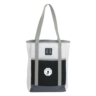 Customized Sprinter Color Block Mesh Tote Bag with Pocket