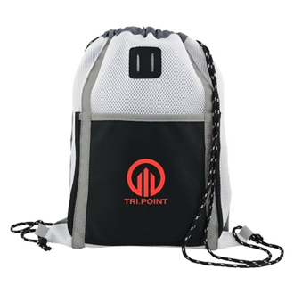 Customized Sprinter Color Block Mesh Drawstring Backpack