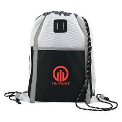 Customized Sprinter Colour Block Mesh Drawstring Backpack