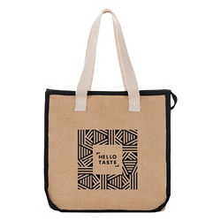 Customized Jute Insulated Grocery Tote