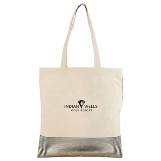 Customized Kauai Natural Cotton Pocket Tote