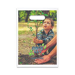 Customized Full Color Oxo-Biodegradable Die Cut Bag - 9 x 13