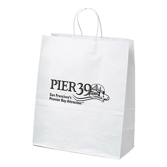 Customized White Citation Shopping Bag