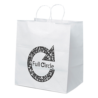 Customized White Brute Shopping Bag