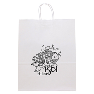Customized White Guard Paper Bag