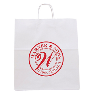 Customized White Knight Paper Bag