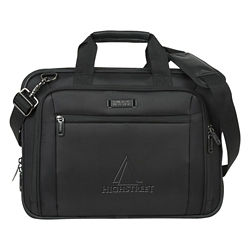 Customized Kenneth Cole® EZ-Scan Single Gusset Debossed Laptop Case