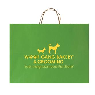 Customized Striped Tinted Kraft Shopping Bag-16