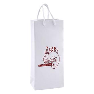 Customized White Kraft Eurotote Bag-5.5