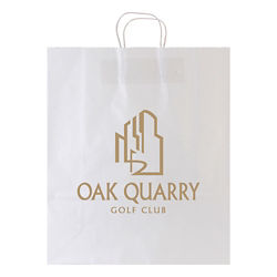 Customized White Kraft Shopping Bag-16