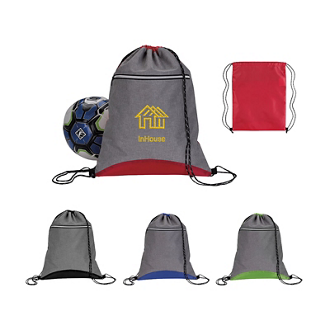 Customized Good Value™ Two Tone Sport Drawstring Backpack