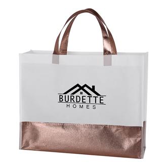 Customized Metallic Accent Addie Tote Bag