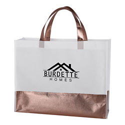 Customized Metallic Accent Addie Tote Bag