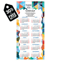 Customized Deluxe No. 10 Envelope Sized Calendar Magnet