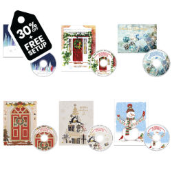 Customized Britebrand™ Christmas Card with Matching CD