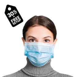 Customized Disposable 3-Layer Non-Surgical Face Mask with Pouch