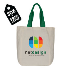 Customized Britebrand™ Color Me Cotton Tote Bag