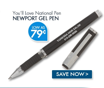 National Pen Newport Gel Pen. Low as 79¢