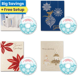 Customized Christmas Card with Personalized CD Mystery Pack