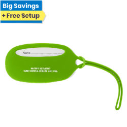 Customized Oval Silicone Luggage Tag