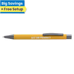 Customized Soft Touch Arlington Pen with Deluxe Refill