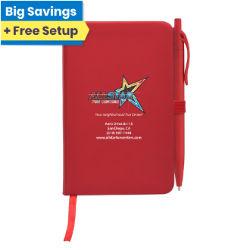 Customized Full Colour Inkjet Notebook & Poppy Pen Gift Set