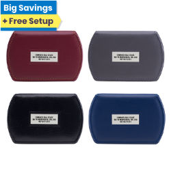Customized 20-21 Two Sided Oval Note Caddy