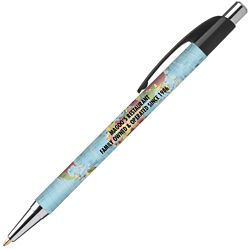 Customized Britebrand™ White Colourama Pen with Colour Clip