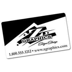 Customized Custom Business Card Magnets - 1 Color